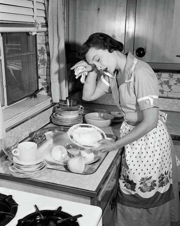1950s-tired-exhausted-woman-housewife-vintage-images